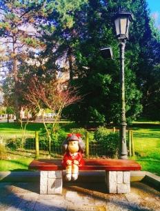 Mafalda in San Francisco Park